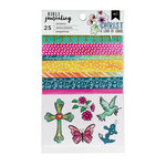 American Crafts - Bible Journaling Collection - Washi Stickers - Watercolor With Foil Accents