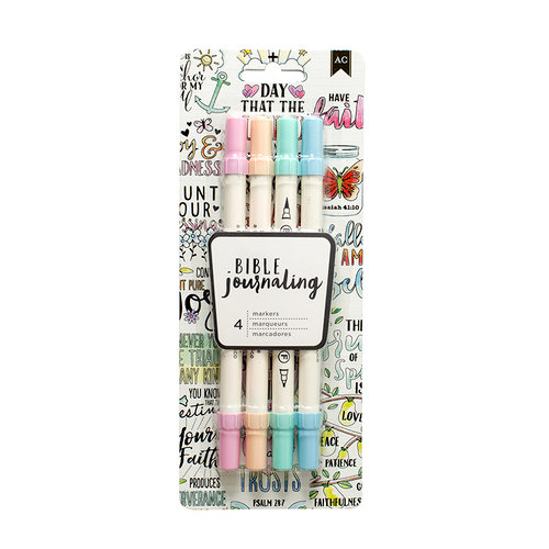 American Crafts - Bible Journaling Collection - Dual Tip Markers - Pastels