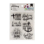 American Crafts - Bible Journaling Collection - Clear Acrylic Stamps - God Is Love