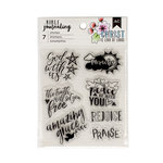 American Crafts - Bible Journaling Collection - Clear Acrylic Stamps - God With Us