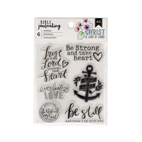 American Crafts - Bible Journaling Collection - Clear Acrylic Stamps - Trust In The Lord