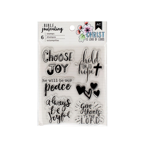 American Crafts - Bible Journaling Collection - Clear Acrylic Stamps - Shield