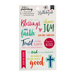 American Crafts - Bible Journaling Collection - Rub Ons - Blessing