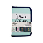 American Crafts - Bible Journaling Collection - Bible Journal Pouch - Peace, Love, Happiness - Kit