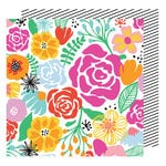 American Crafts - On A Whim Collection - 12 x 12 Double Sided Paper - Full Bloom