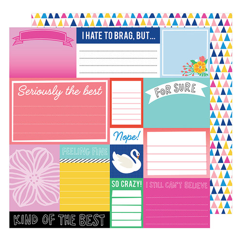 American Crafts - On A Whim Collection - 12 x 12 Double Sided Paper - Seriously