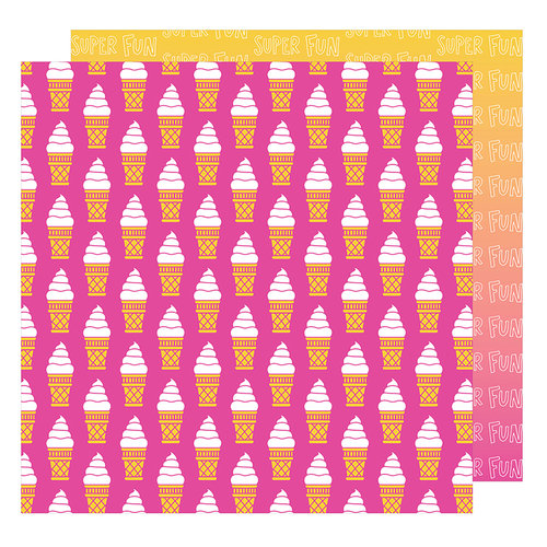 American Crafts - On A Whim Collection - 12 x 12 Double Sided Paper - Super Fun