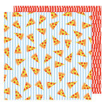 American Crafts - On A Whim Collection - 12 x 12 Double Sided Paper - Pizza Party