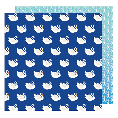 American Crafts - On A Whim Collection - 12 x 12 Double Sided Paper - Swan Dive