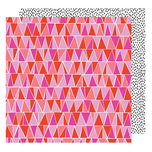 American Crafts - On A Whim Collection - 12 x 12 Double Sided Paper - Let's Dance