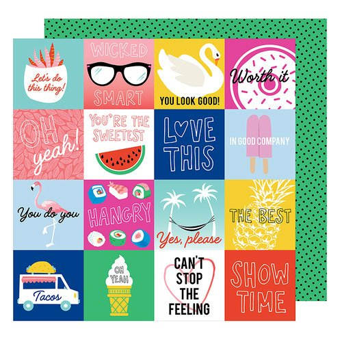 American Crafts - On A Whim Collection - 12 x 12 Double Sided Paper - In Good Company