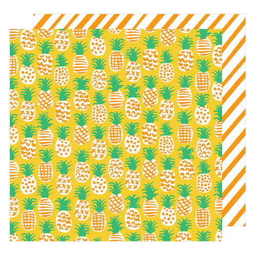 American Crafts - On A Whim Collection - 12 x 12 Double Sided Paper - Fine Apple