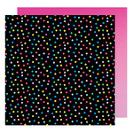 American Crafts - On A Whim Collection - 12 x 12 Double Sided Paper - Confetti