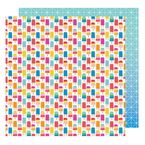 American Crafts - On A Whim Collection - 12 x 12 Double Sided Paper - Keep Your Cool