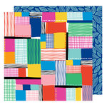 American Crafts - On A Whim Collection - 12 x 12 Double Sided Paper - Patchwork