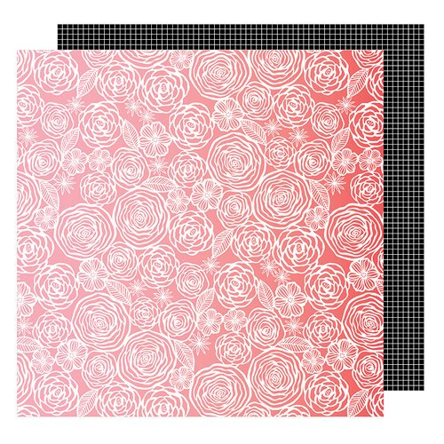American Crafts - On A Whim Collection - 12 x 12 Double Sided Paper - Think Pink