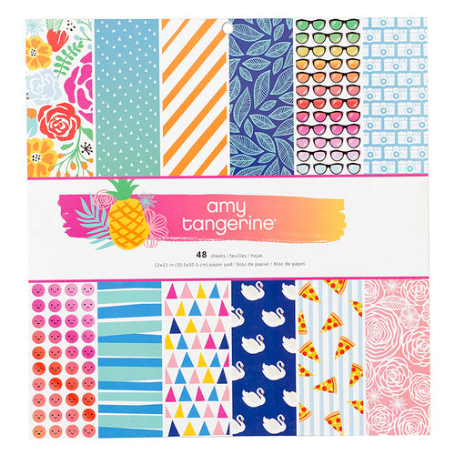 American Crafts - On A Whim Collection - 12 x 12 Paper Pad