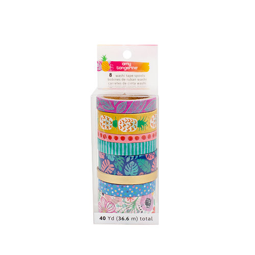 American Crafts - On A Whim Collection - Washi Tape Pack with Foil Accents