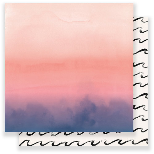Crate Paper - Oasis Collection - 12 x 12 Double Sided Paper - Sunset