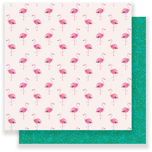 Crate Paper - Oasis Collection - 12 x 12 Double Sided Paper - Fly Away