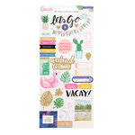 Crate Paper - Oasis Collection - Cardstock Stickers with Glitter Accents