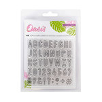 Crate Paper - Oasis Collection - Clear Acrylic Stamps - Alpha