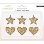 Crate Paper - Magnet Studio Collection - Hearts and Stars with Glitter Accents