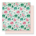 Crate Paper - Falala Collection - Christmas - 12 x 12 Double Sided Paper - Wonderland
