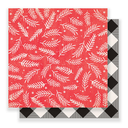 Crate Paper - Falala Collection - Christmas - 12 x 12 Double Sided Paper - Joyful