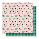 Crate Paper - Falala Collection - Christmas - 12 x 12 Double Sided Paper - Together
