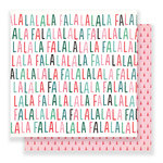 Crate Paper - Falala Collection - Christmas - 12 x 12 Double Sided Paper - Festive