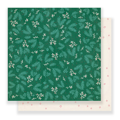 Crate Paper - Falala Collection - Christmas - 12 x 12 Double Sided Paper - Mistletoe