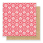 Crate Paper - Falala Collection - Christmas - 12 x 12 Double Sided Paper - Snowflakes