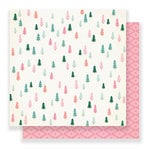 Crate Paper - Falala Collection - Christmas - 12 x 12 Double Sided Paper - Evergreen