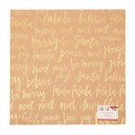 Crate Paper - Falala Collection - Christmas - 12 x 12 Kraft Paper with Glitter Accents