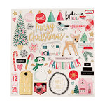 Crate Paper - Falala Collection - Christmas - Chipboard Stickers