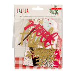 Crate Paper - Falala Collection - Christmas - Ephemera with Glitter Accents