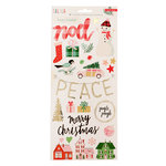 Crate Paper - Falala Collection - Christmas - Cardstock Stickers with Foil Accents