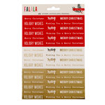 Crate Paper - Falala Collection - Christmas - Cardstock Stickers with Foil Accents - Phrases