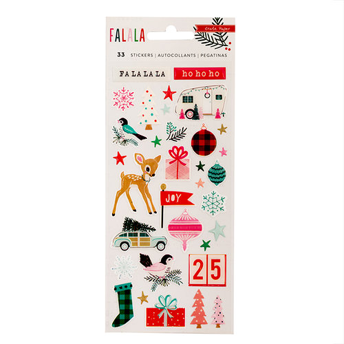 Crate Paper - Falala Collection - Christmas - Epoxy Stickers