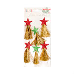 Crate Paper - Falala Collection - Christmas - Tinsel Tassels with Glitter Accents