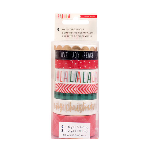 Crate Paper - Falala Collection - Christmas - Washi Tape with Foil Accents