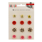 Crate Paper - Falala Collection - Christmas - Buttons