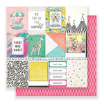 Crate Paper - Carousel Collection - 12 x 12 Double Sided Paper - Carnival