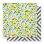 Crate Paper - Carousel Collection - 12 x 12 Double Sided Paper - Rose Park