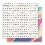 Crate Paper - Carousel Collection - 12 x 12 Double Sided Paper - Cotton Candy