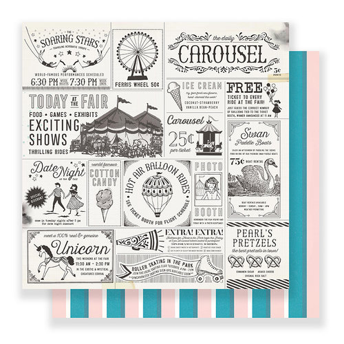 Crate Paper - Carousel 12 x 12 Paper - Exhibits