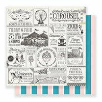 Crate Paper - Carousel Collection - 12 x 12 Double Sided Paper - Exhibits