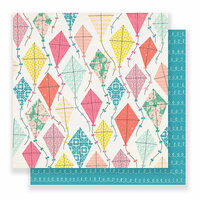 Crate Paper - Carousel Collection - 12 x 12 Double Sided Paper - Summertime