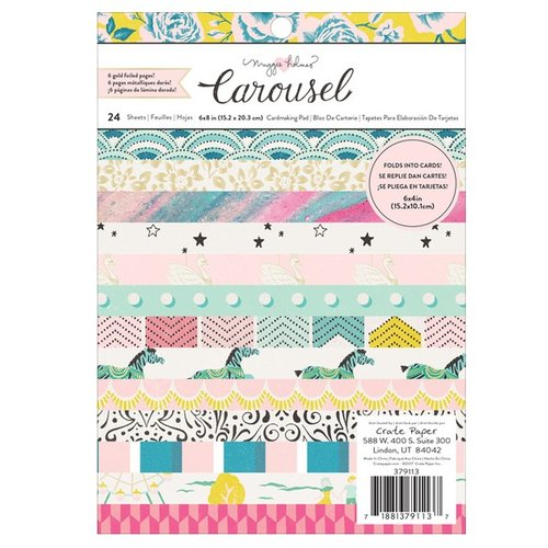 Maggie Holmes - Carousel Collection - 6 x 8 Paper Pad with Foil Accents